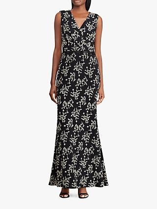 Lauren Ralph Lauren Rozana Dress, Black/Gold