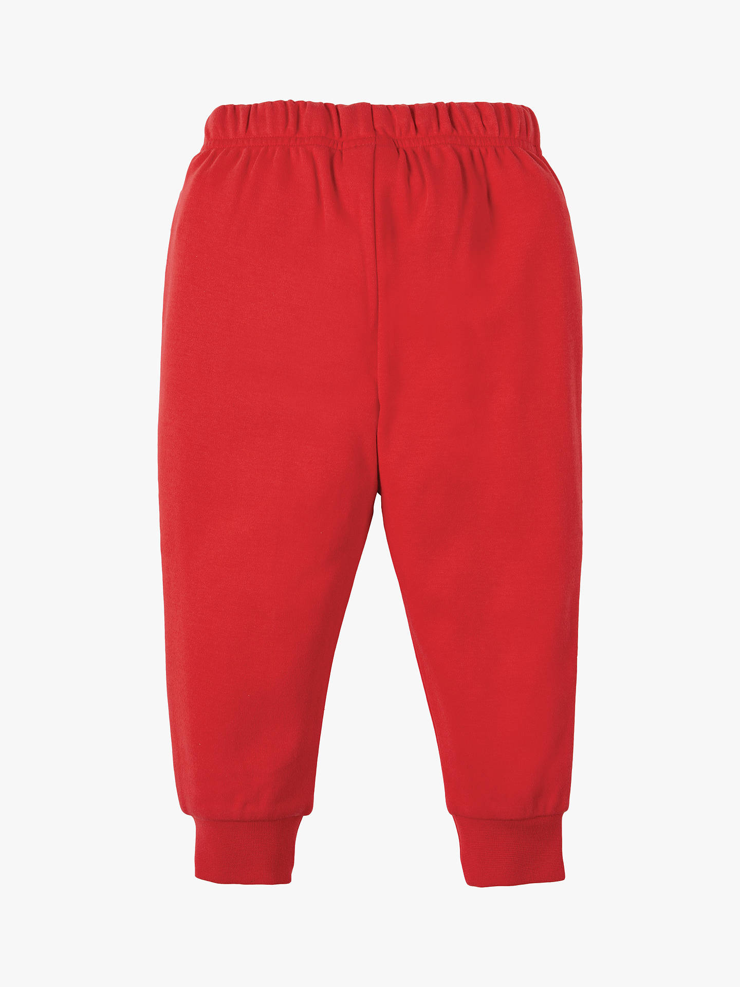 Frugi Baby Organic Cotton Star Knee Patch Joggers Red At John Lewis