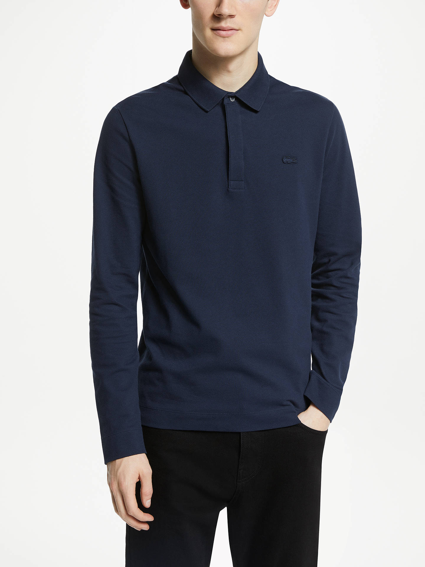 719eb6912f Buy Lacoste Paris Long Sleeve Polo Shirt, Marine, XL Online at  johnlewis.com ...
