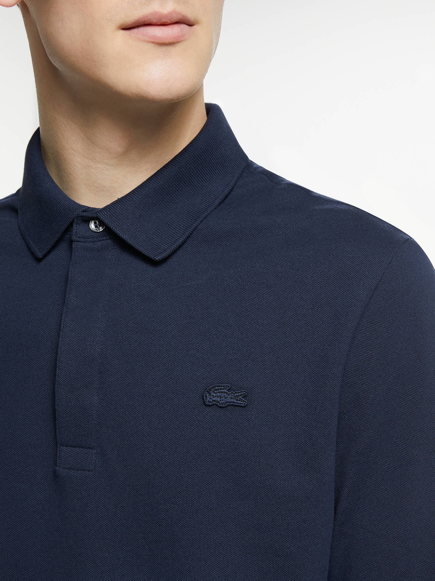 96b86a874b ... Buy Lacoste Paris Long Sleeve Polo Shirt, Marine, XL Online at  johnlewis.com ...