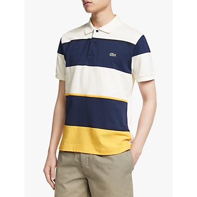 Lacoste Colour Block Short Sleeve Polo Shirt, Physalis