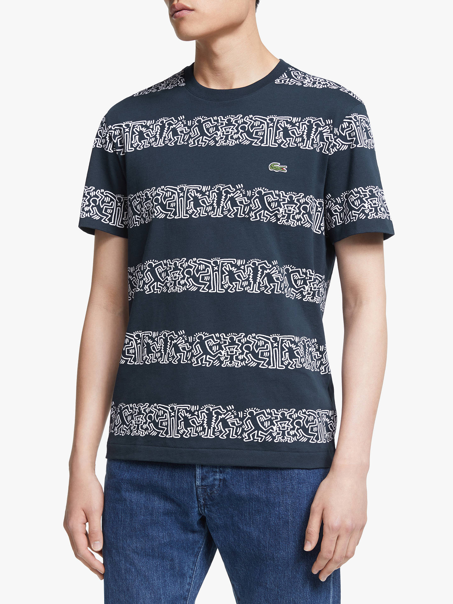 7018cf9cf7b1 Buy Lacoste x Keith Haring Graphic Print Stripe T-Shirt