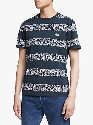 92df2b1bb5 Lacoste x Keith Haring Graphic Print Stripe T-Shirt, Blue