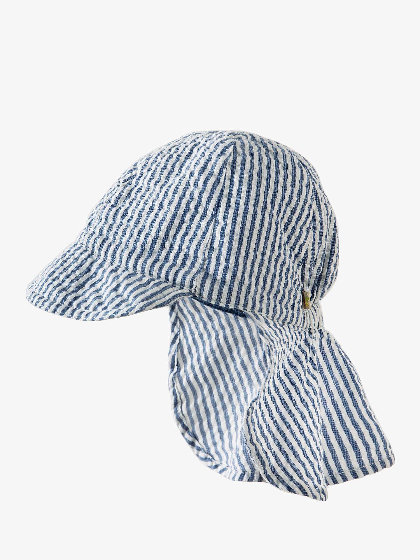 a9e7a11b Buy Frugi Baby Organic Cotton Seersucker Stripe Sun Hat, White, 6-12 months  ...