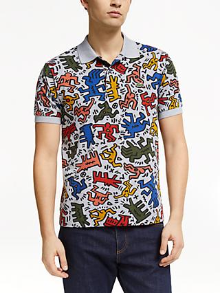 0b1129a4 Lacoste x Keith Haring Allover Print Polo Shirt, Silver/Multi