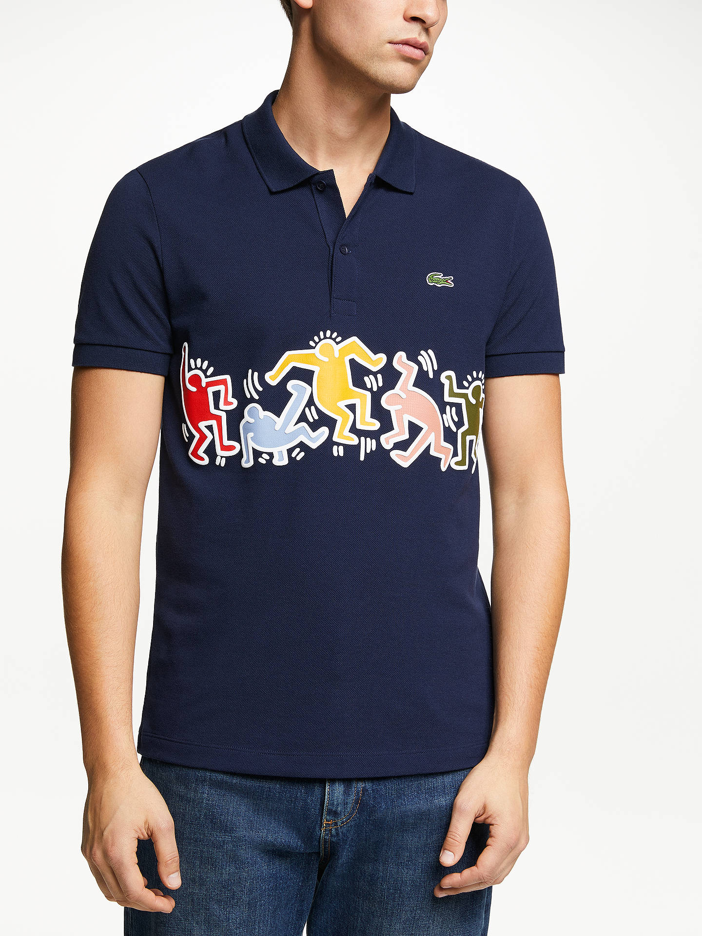 b785407e Lacoste x Keith Haring Printed Band Polo Shirt at John Lewis & Partners