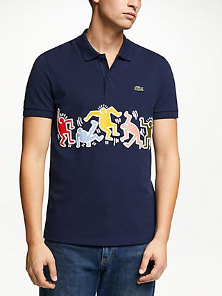 c958fc430d15a Lacoste x Keith Haring Printed Band Polo Shirt