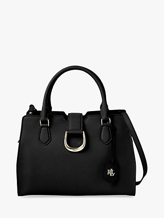 Lauren Ralph Lauren Pebbled Leather City Satchel, Black