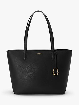 Lauren Ralph Lauren Medium Tote Bag, Black/Taupe