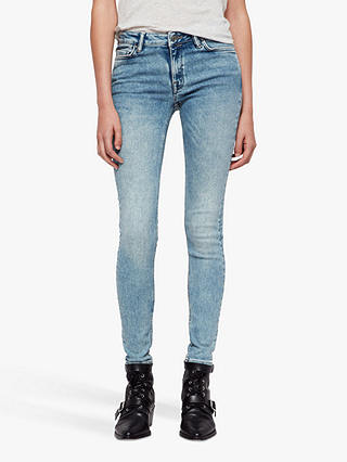 Buy AllSaints Mast Skinny Jeans, Light Indigo, 25 Online at johnlewis.com