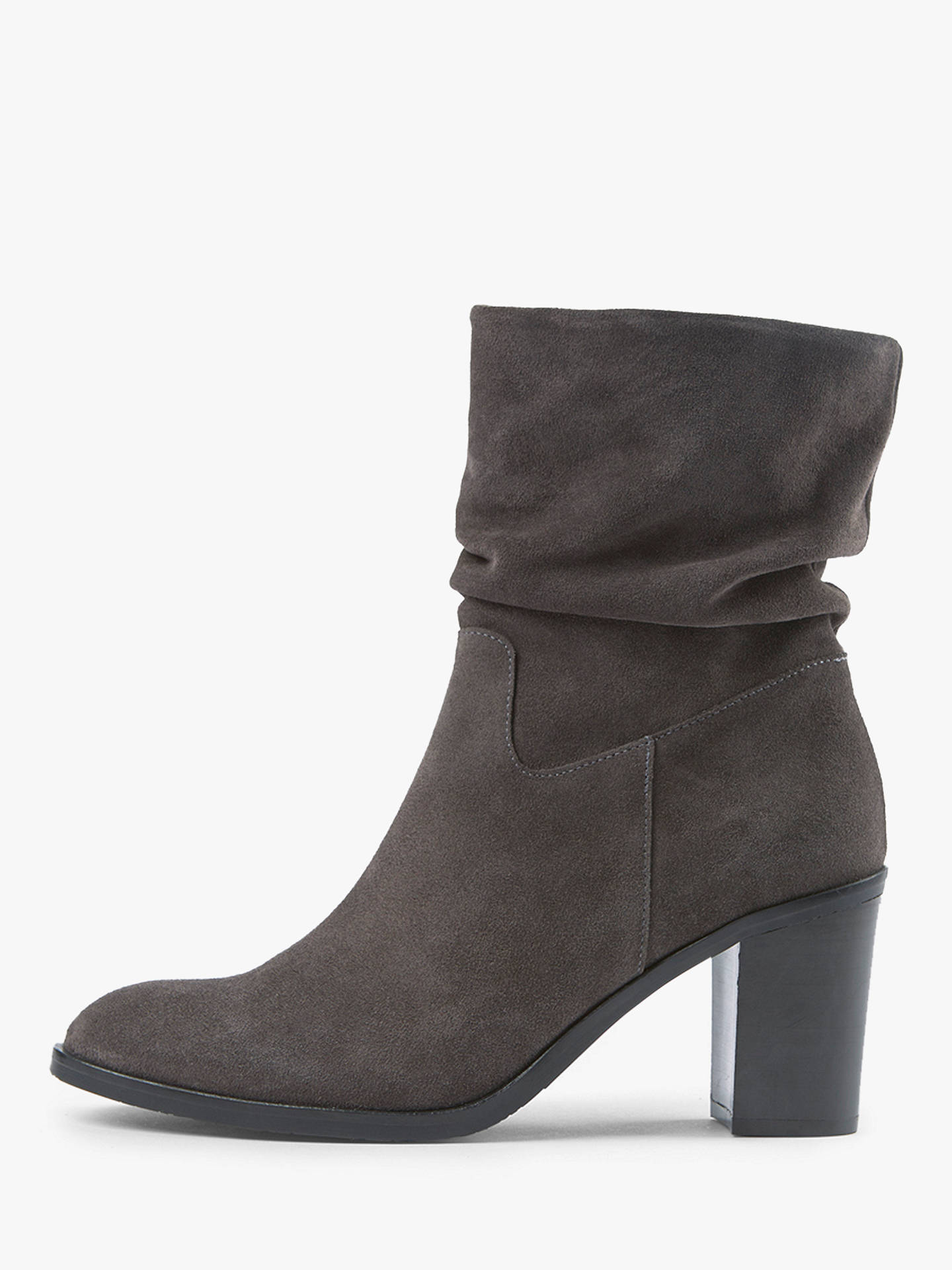 92bb66a258 Buy Mint Velvet Eve Slouchy Mid Calf Block Heel Boots, Charcoal Suede, 3  Online ...