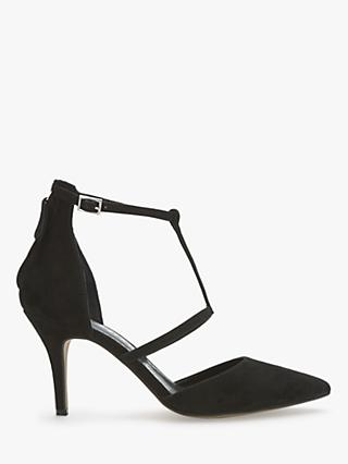 Mint Velvet Nicole Strap Heel Court Shoes, Black