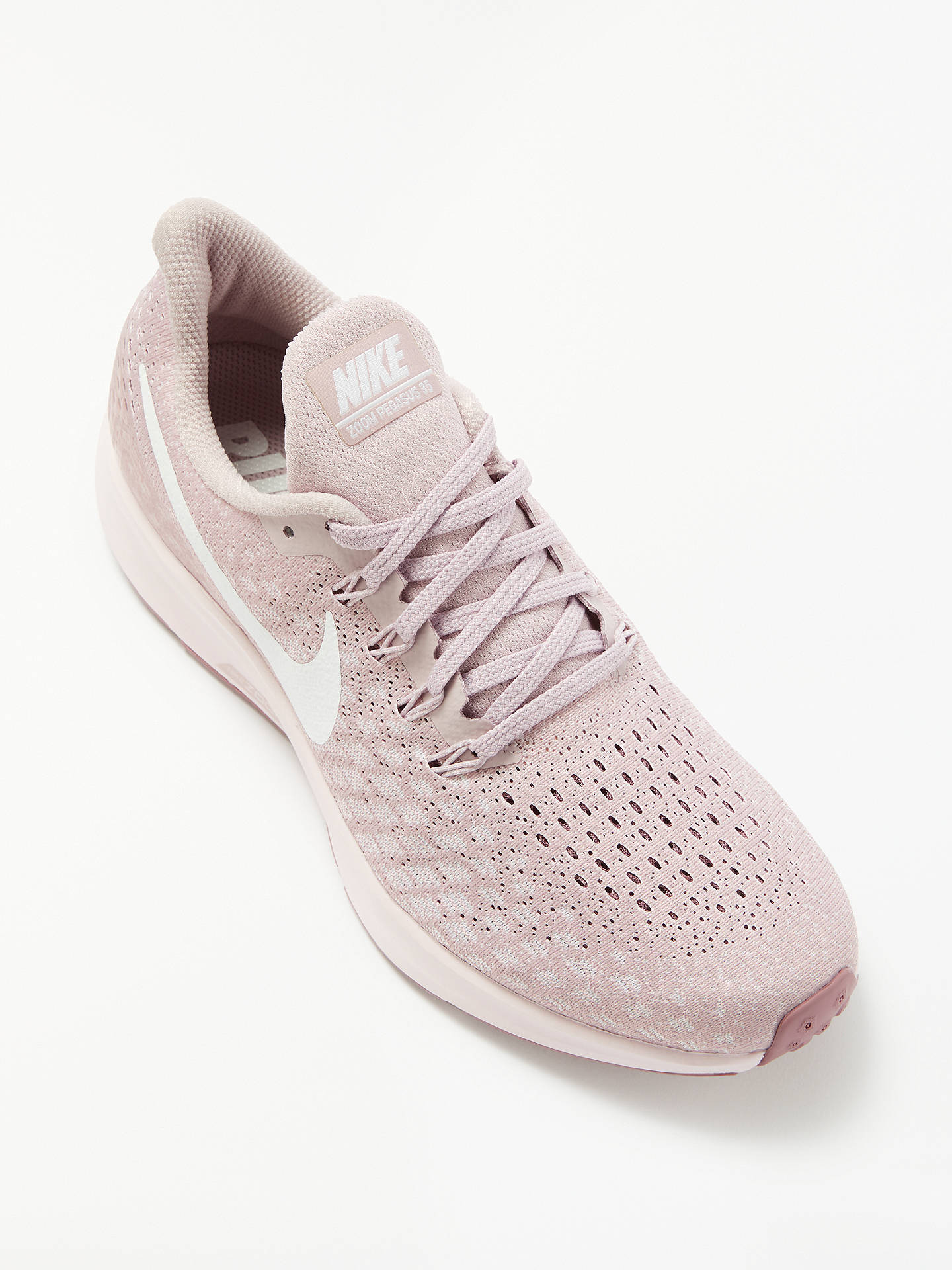 Real rotación Parche  Nike Air Zoom Pegasus 35 Women's Running Shoes, Particle Rose/White at John  Lewis & Partners