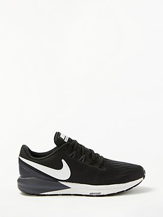 Nike Air Zoom Structure 22 Women's Running Shoes, Black/White Gridiron