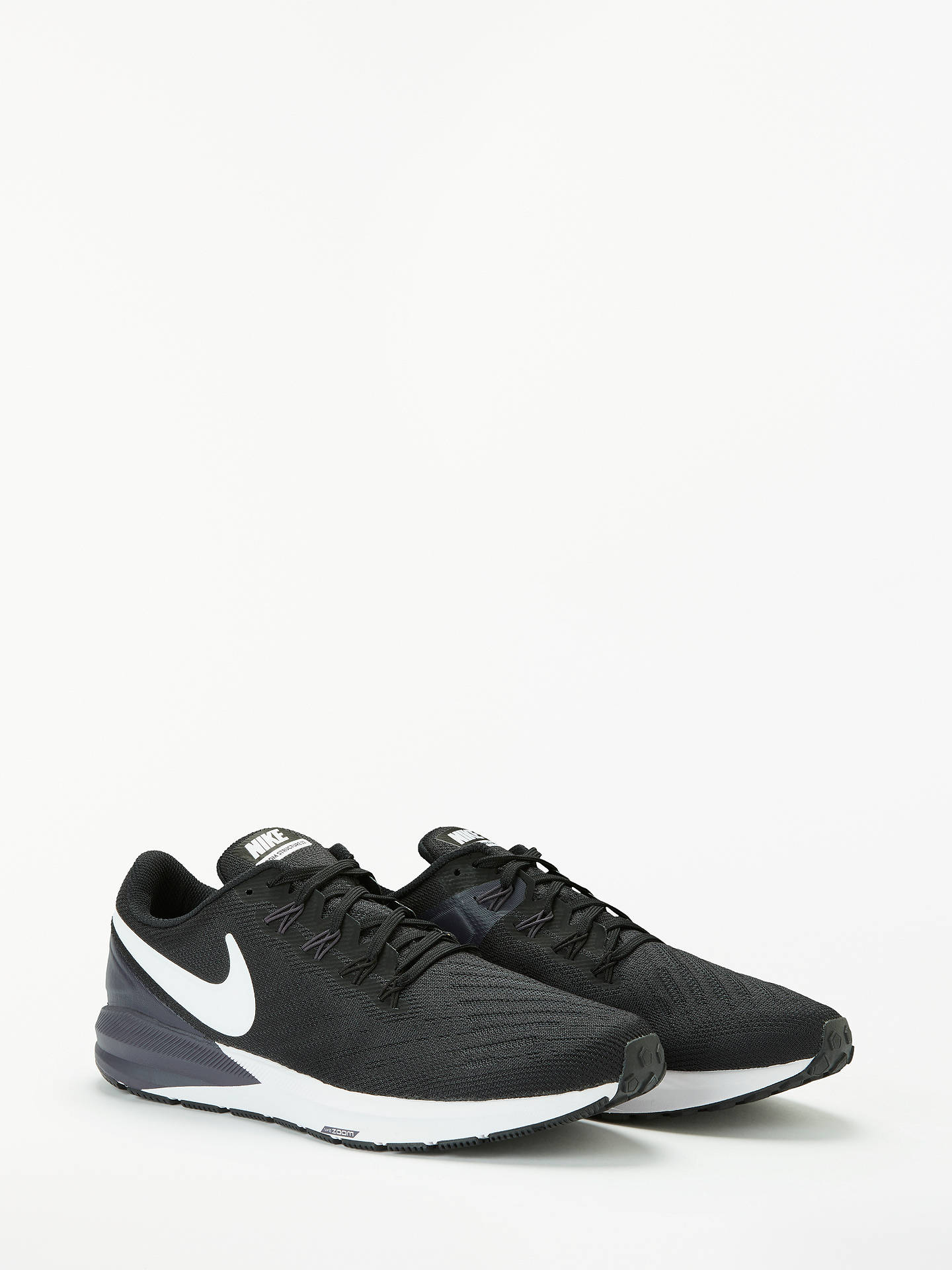Nike Air Zoom Structure 22 Men's Running Shoes, BlackWhite Gridiron