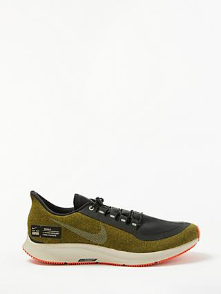 Nike Air Zoom Pegasus 35 Shield Men's Running Shoes, Olive Flak/Metallic Silver/Black String