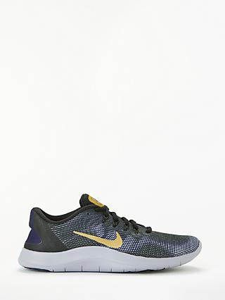 3d3e111a88fb Nike Flex RN 2018 Women s Running Shoes, Black Metallic Gold Obsidian