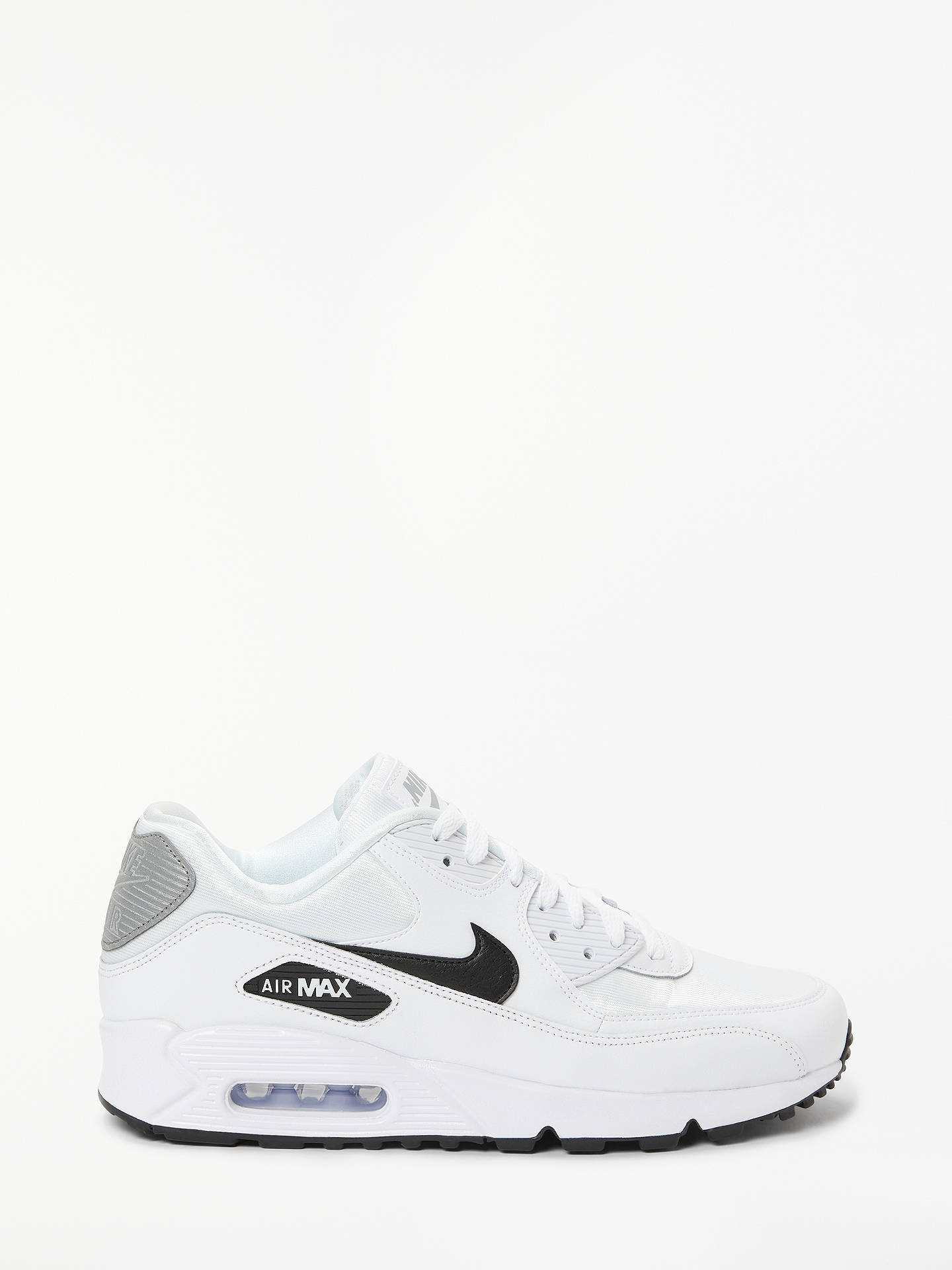 separation shoes 4e770 b633d Buy Nike Air Max 90 Women s Trainers, White Black Reflect Silver, 4 ...