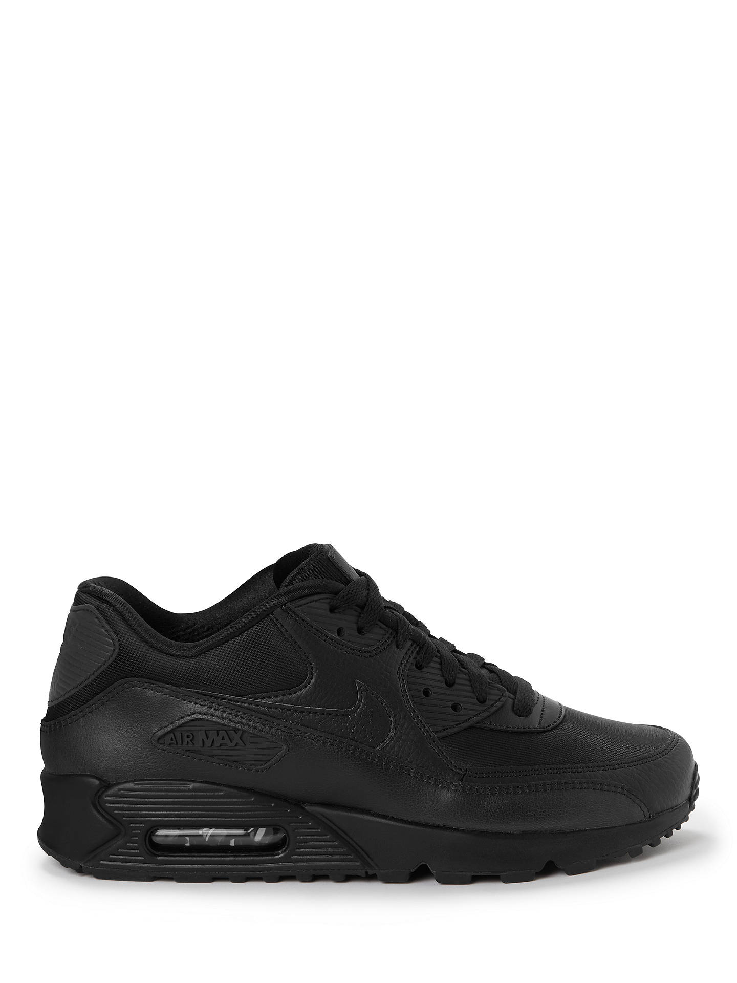 05f587b88f Buy Nike Air Max 90 Women's Trainers, Black, 4 Online at johnlewis. ...