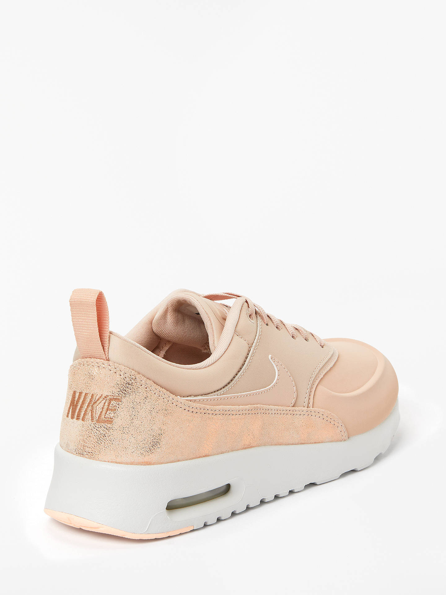 Rayo conferencia Unidad  Nike Air Max Thea Premium Women's Trainers, Particle Beige at John Lewis &  Partners