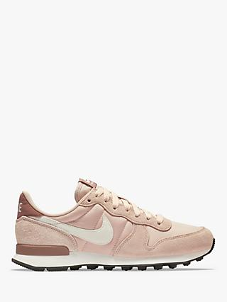 Nike Internationalist Women's Trainers, Particle Beige/Summit White/Smokey Mauve