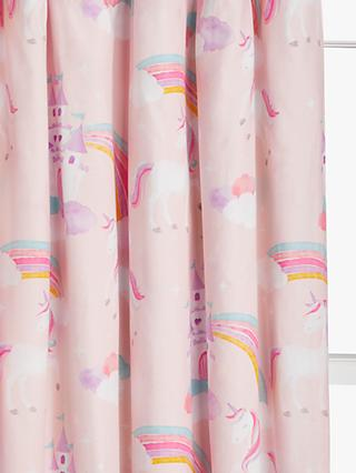 little home at John Lewis Magical Unicorn Pencil Pleat Pair Blackout Lined Children's Curtains
