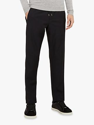 Ted Baker Ribcuff Slim Ribbed Cuff Trousers, Navy Blue