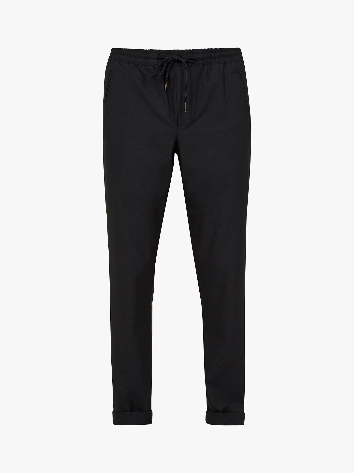 BuyTed Baker Ribcuff Slim Ribbed Cuff Trousers, Navy Blue, 32R Online at johnlewis.com