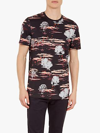 Ted Baker Happie All Over Printed T-Shirt, Dark Red