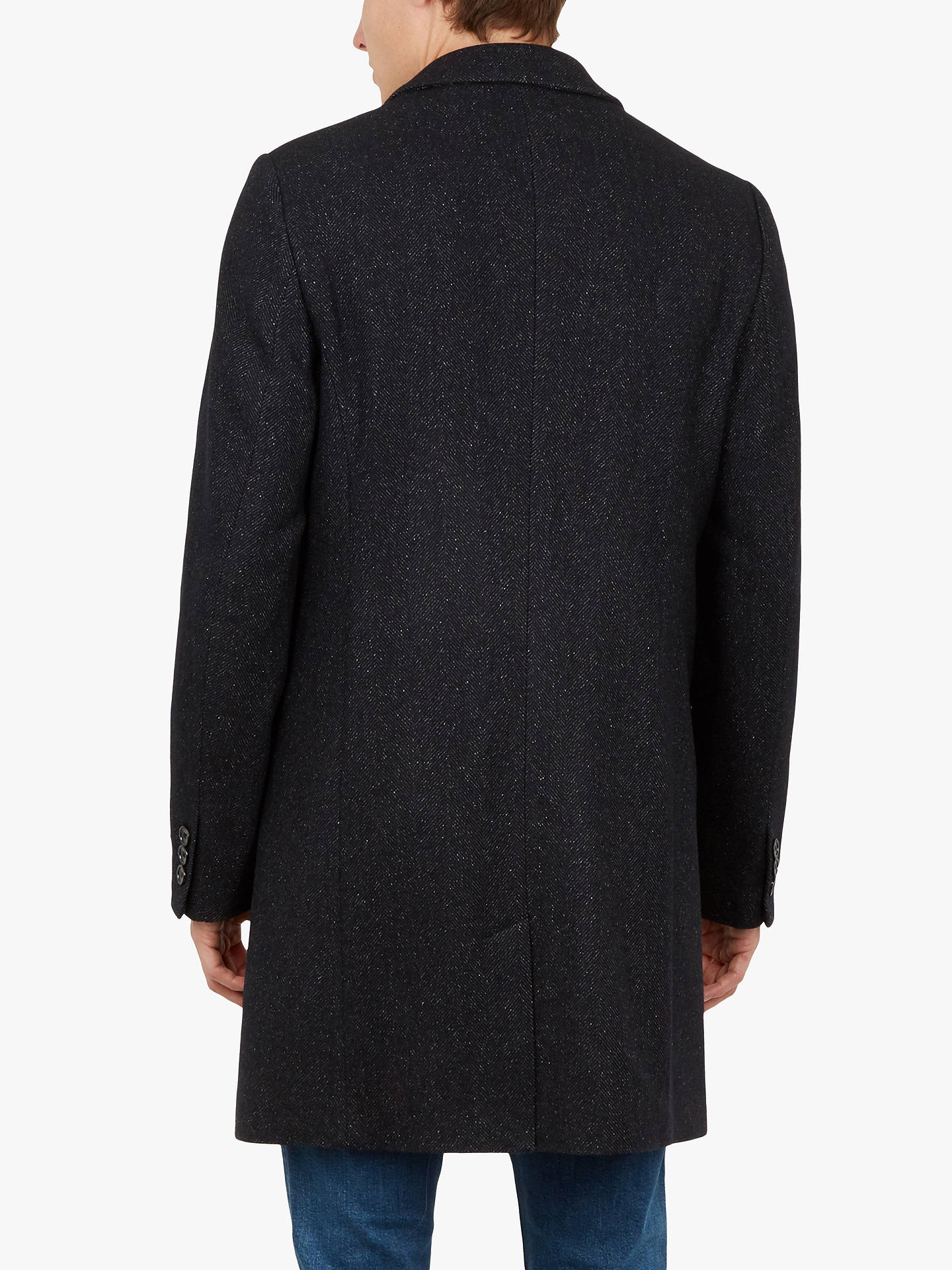BuyTed Baker Cambear 2 Button Overcoat, Navy, M Online at johnlewis.com