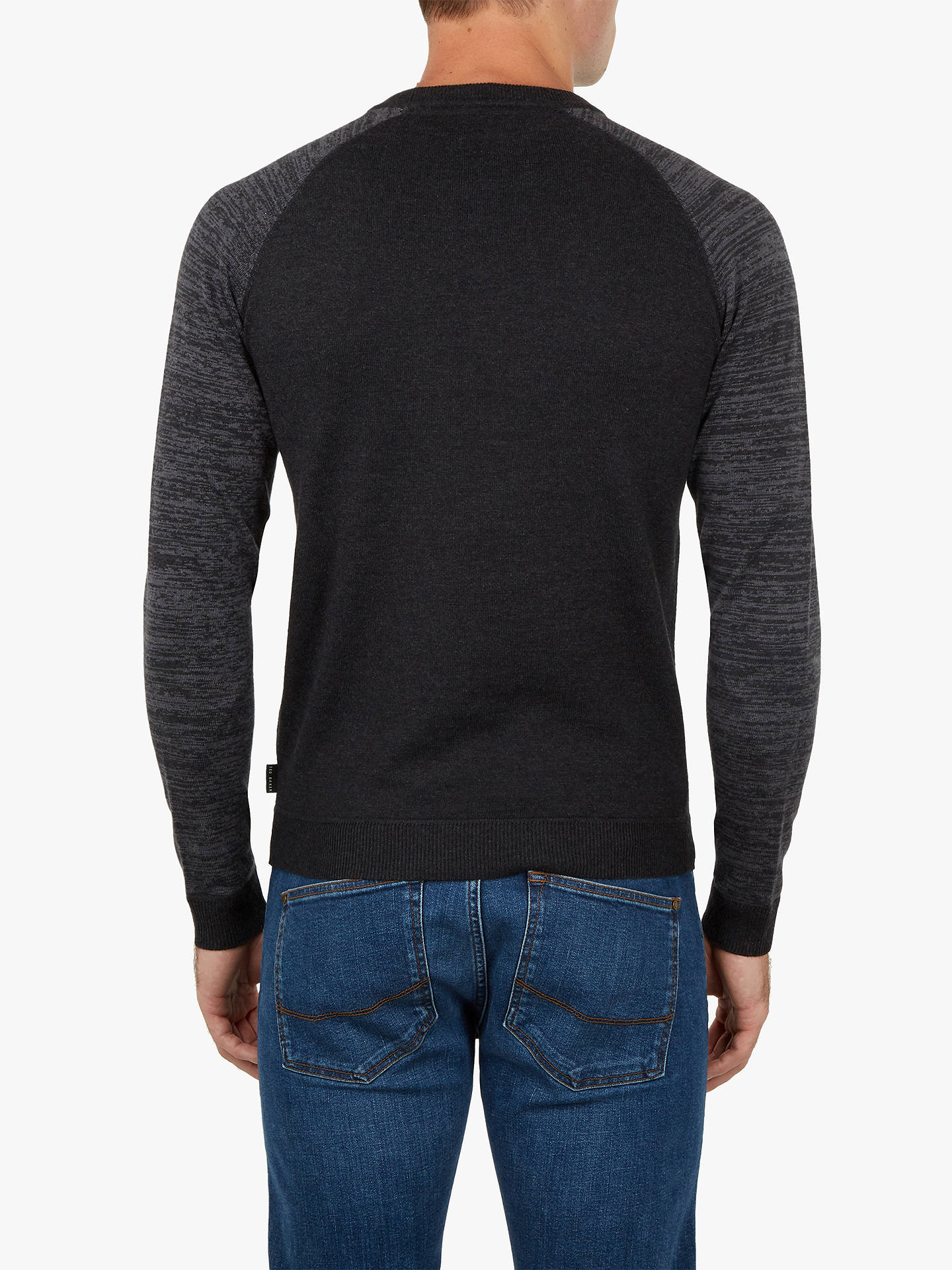 BuyTed Baker Cornfed Space Dye Crew Neck Top, Charcoal Grey, XXXL Online at johnlewis.com