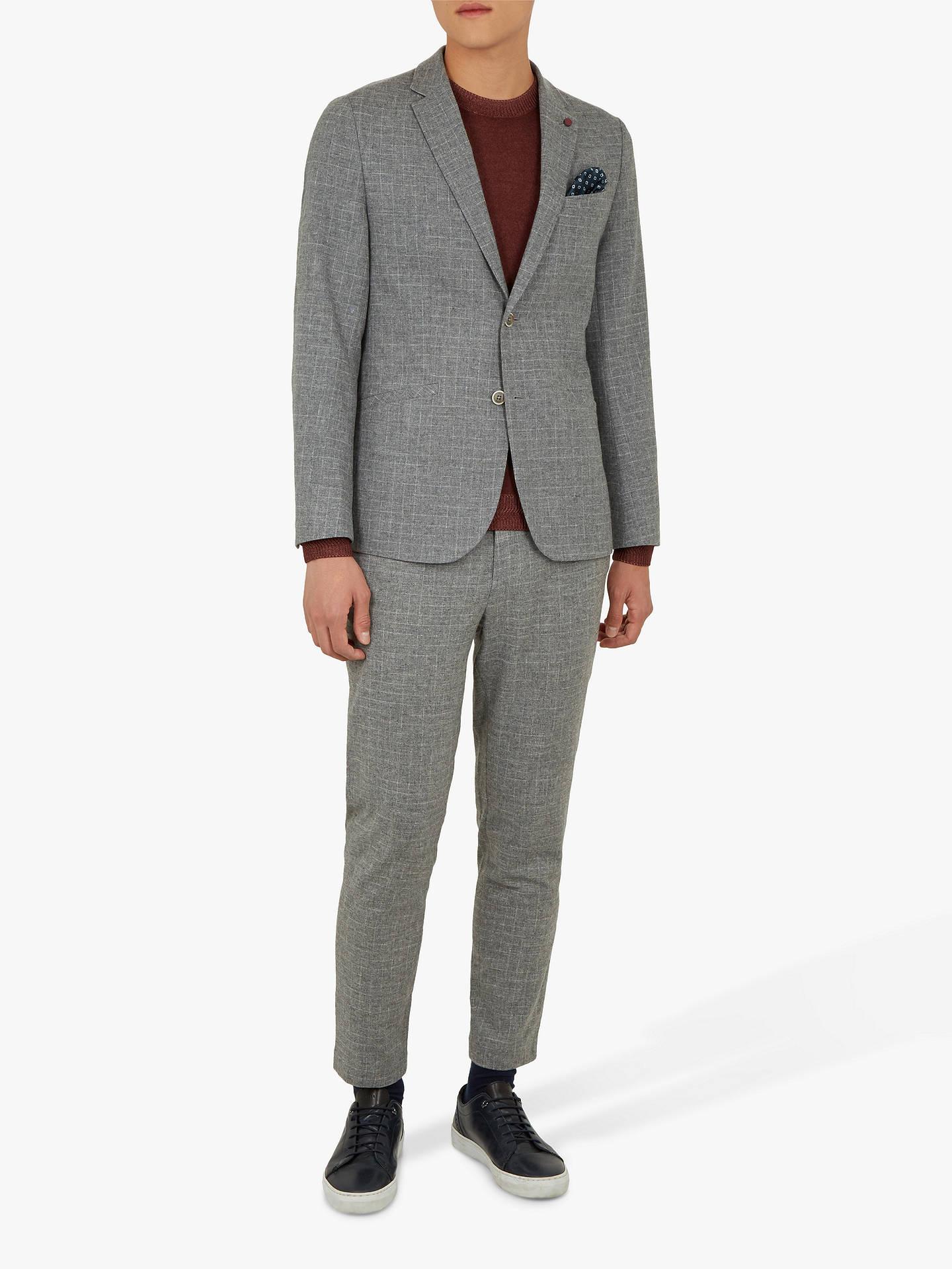 4f6323f11ec9a ... Buy Ted Baker Zoltro Cross Hatch Wool Trousers