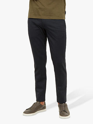 Buy Ted Baker Willham Slim Fit Textured Trousers, Navy, 34S Online at johnlewis.com