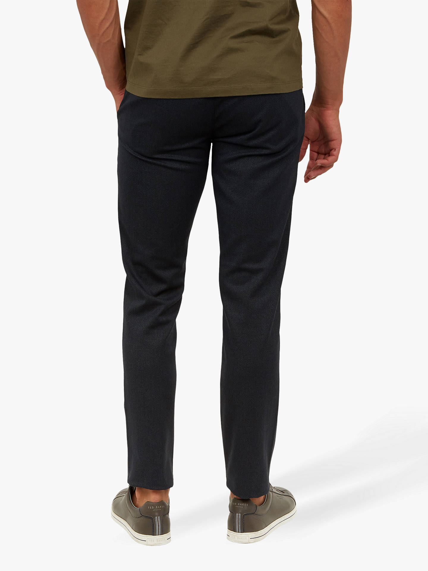 BuyTed Baker Willham Slim Fit Textured Trousers, Navy, 30R Online at johnlewis.com