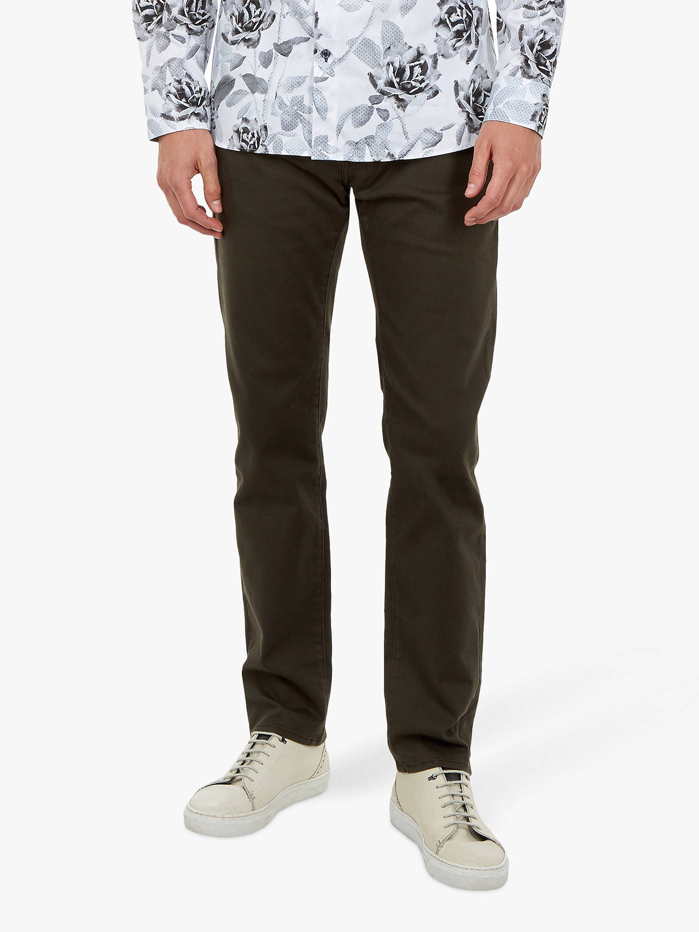 Buy Ted Baker Wedmin Straight Fit Jeans, Khaki, 28S Online at johnlewis.com