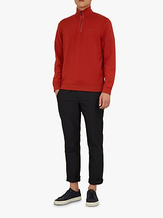 Ted Baker Jundo Half Zip Branded Jumper