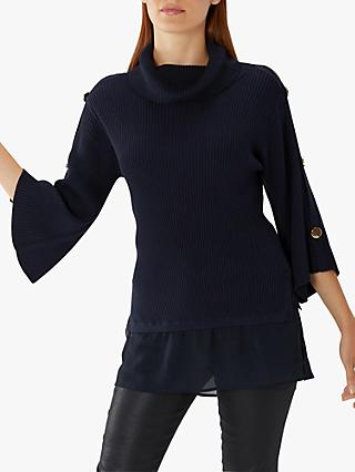 Coast Delphie Knitted Top, Navy