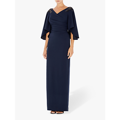 Adrianna Papell Ruched Embellished Dress, Blue