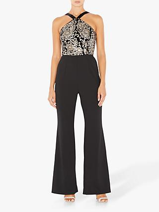 Adrianna Papell Embroidered Knit Crepe Jumpsuit, Multi