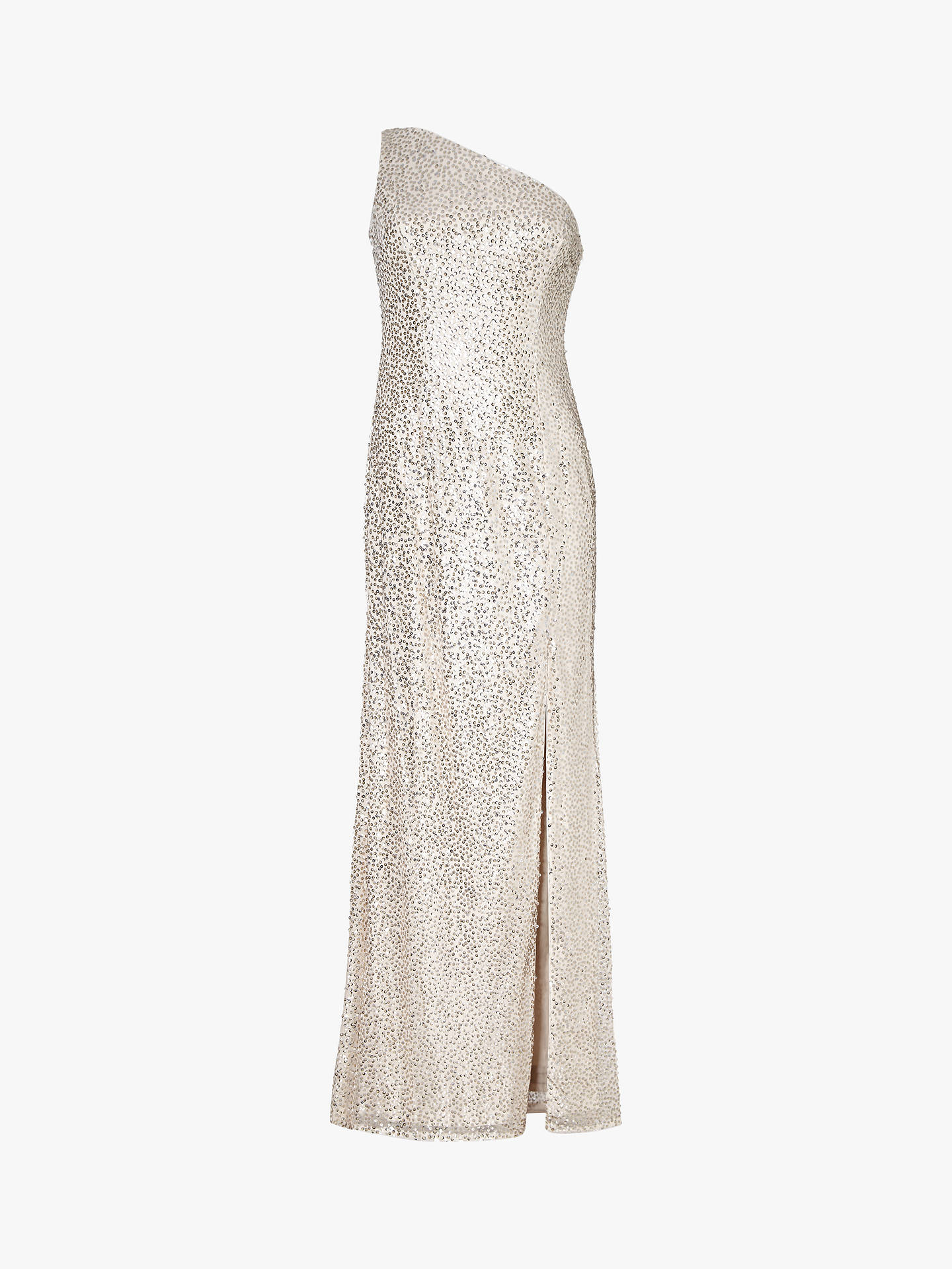 BuyAdrianna Papell Sequin Mermaid Dress, Natural, 18 Online at johnlewis.com