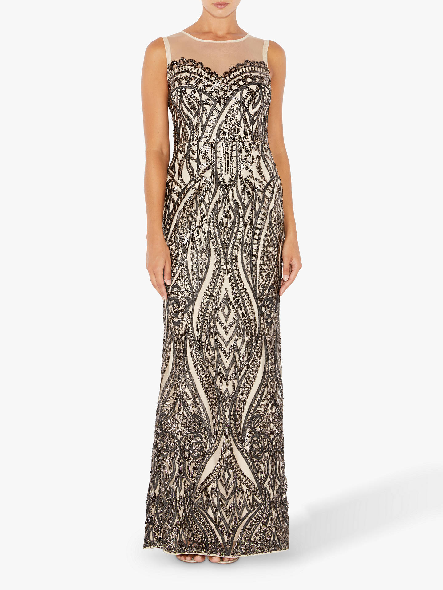 BuyAdrianna Papell Halter Sleeveless Maxi Dress, Multi, 8 Online at johnlewis.com