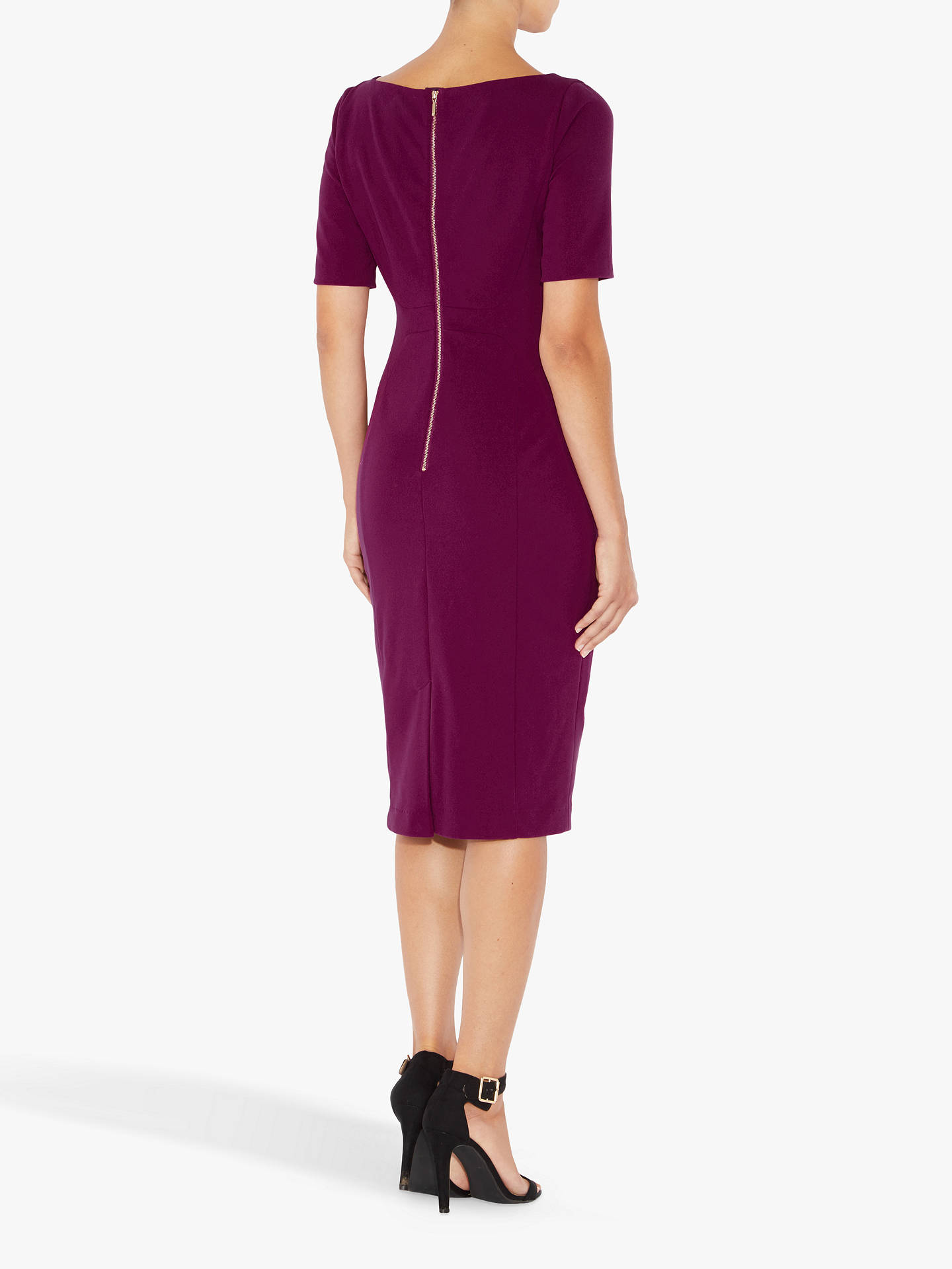 Buy Adrianna Papell Angled Seam Shift Dress, Purple, 16 Online at johnlewis.com