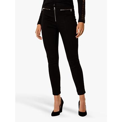 Karen Millen Biker Jeans, Black