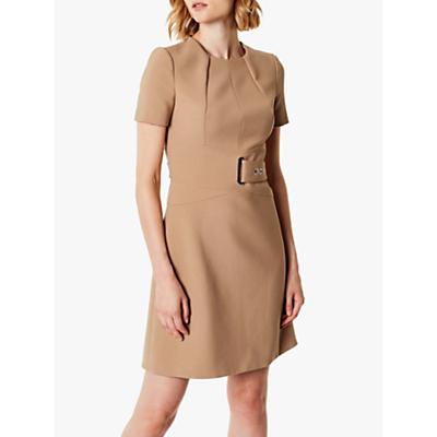 Karen Millen A-Line Wrap Dress, Neutral
