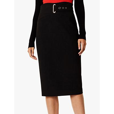 Karen Millen Belted Pencil Skirt, Black