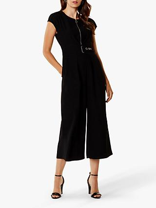 Karen Millen Corsetry Waist Jumpsuit, Black