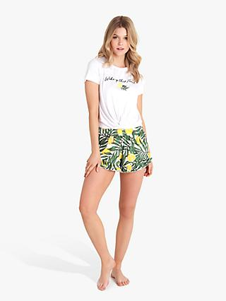 b11f583e19c1 Chelsea Peers Woke Up This Fresh Slogan Shorts Pyjama Set