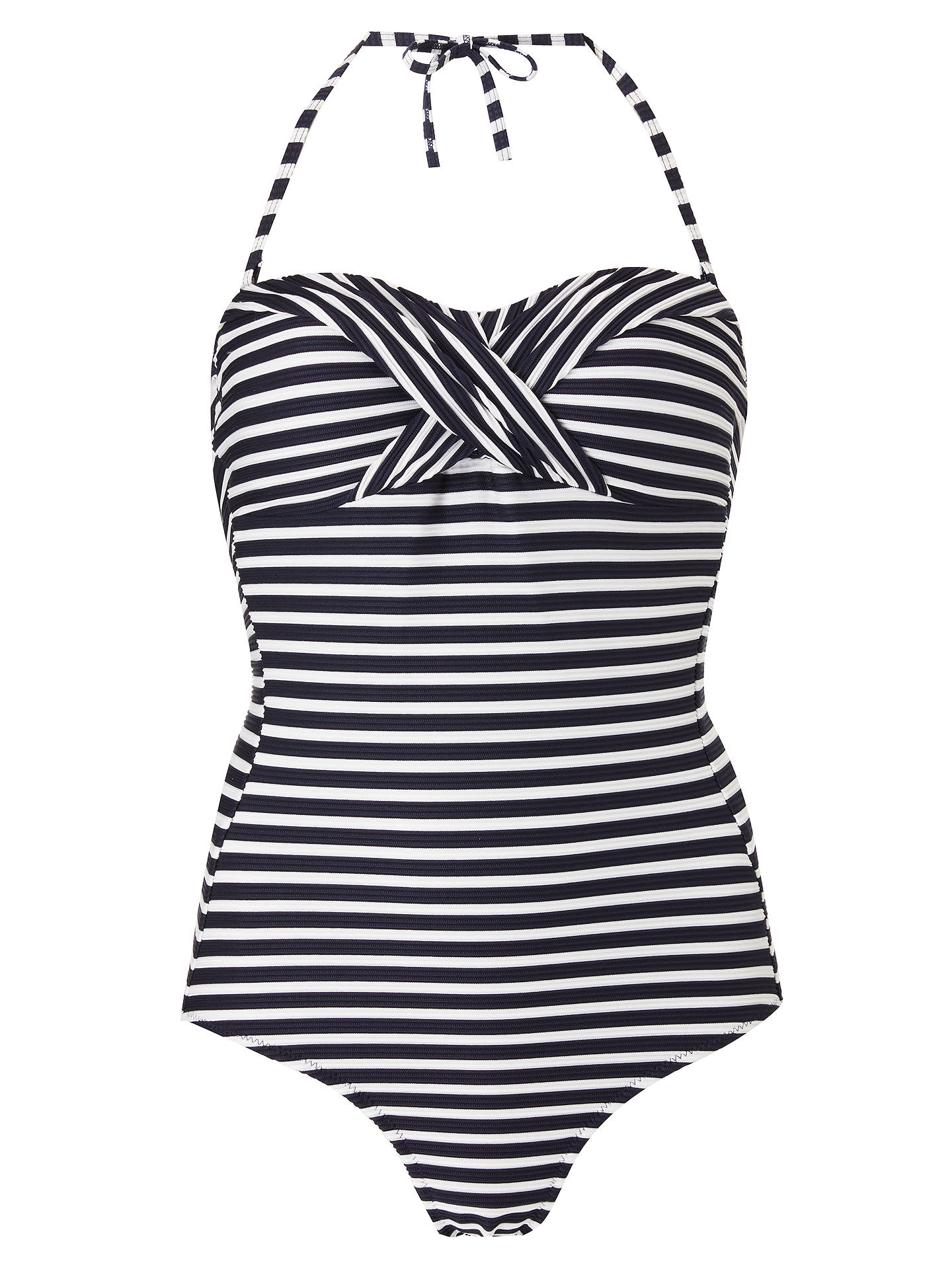 21d430b876 ... BuyJohn Lewis   Partners Textured Stripe Control Swimsuit
