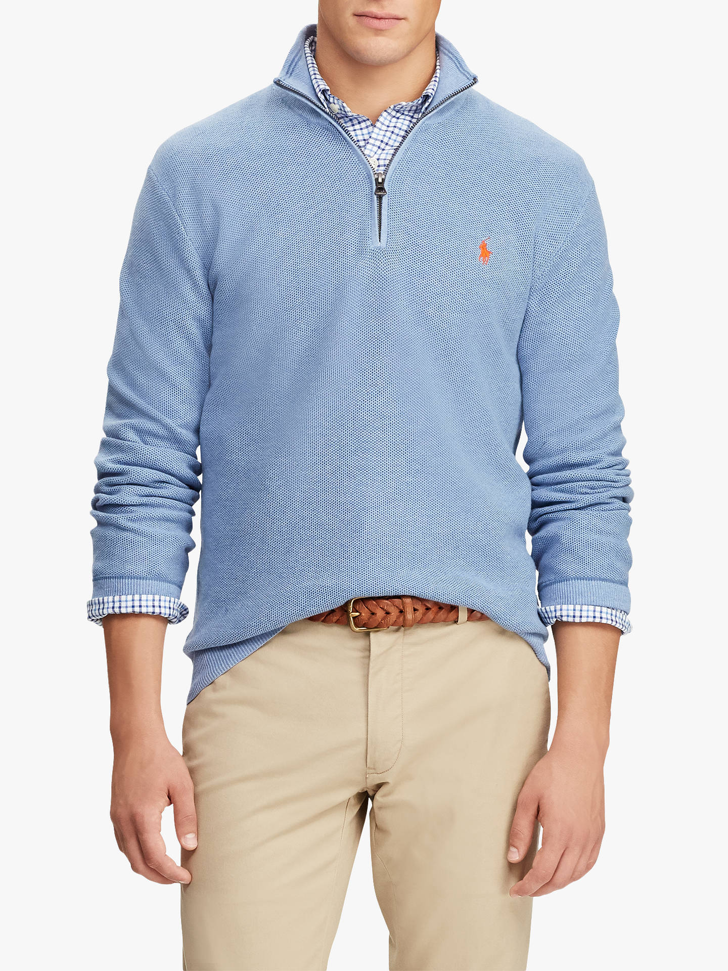 exclusive deals sold worldwide best wholesaler Polo Ralph Lauren Pima Cotton Half Zip Sweatshirt at John ...