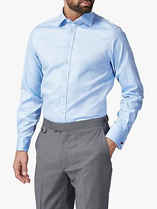 Chester by Chester Barrie Traveller Striped Stretch Shirt, Blue